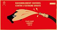 Manifestation antifasciste place Saint-Lambert